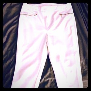 Pants - Women's White dress pants with side zippers